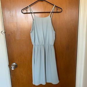 Lush Seafoam Blouson Dress